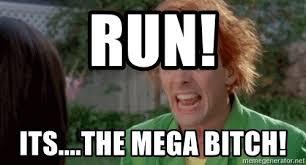 Drop Dead Fred Meme - run its the mega bitch drop dead fred meme generator