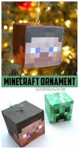 diy minecraft ornament a and a glue gun