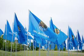 Flag Of Oklahoma Field Of Flags Commemorates The Okc Bombing Talon News