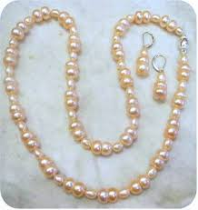 meaning pearl necklace images Peach freshwater pearl necklace enjoy jpg