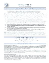 resume examples for registered nurse example of nurses resume