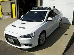mitsubishi ralliart roof rack evolutionm mitsubishi lancer and lancer evolution