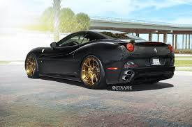 cars ferrari gold black ferrari california matches up with gloss bronze wheels