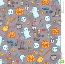 halloween seamless backgrounds halloween doodle seamless pattern in color royalty free stock