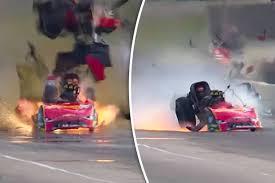 drag racing news courtney force survives 330mph funny car crash