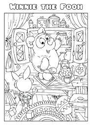 winnie pooh coloring book template create winnie