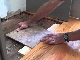 how to tile flush with hardwood floor