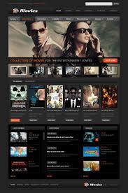 movie flash cms template 45666
