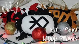 diy no sew kpop pillows christmas gift idea youtube