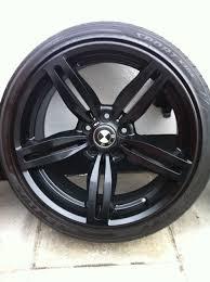 bmw black alloys bmw m6 black alloy wheels and tyres