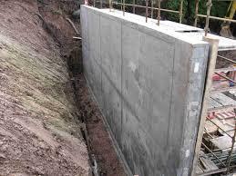 build concrete retaining wall garden design