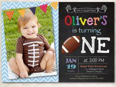 custom printable football chalkboard theme birthday party