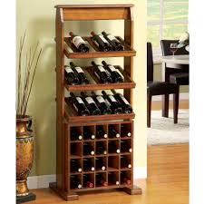 furniture impressive design of wood unique wine storage racks in