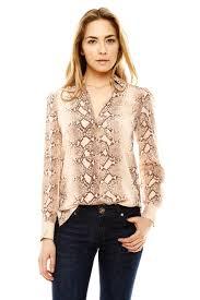 print blouses acrobat snake print blouse from houston by à bientôt shoptiques