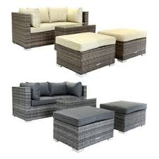Rattan Two Seater Sofa Charles Bentley 2 Seater Rattan Lounge Set Love Seat Footstools
