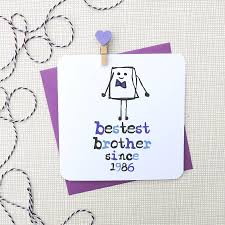 bestest brother u0027 birthday greeting card by parsy card co