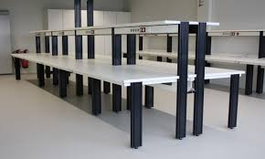 laboratory benches with bench racks and shelves for standalone