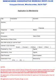 doc 585620 club membership template u2013 15 club application