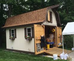 Hip Roof Barn by How To Build A Gambrel Roof With Overhang Popular Roof 2017