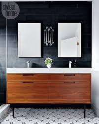 a sleek minimal bathroom style at home
