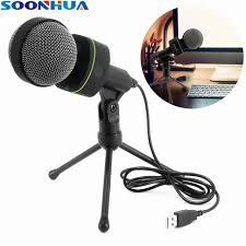 Microphone Bureau - réel soonhua pro audio studio usb microphone à condensateur avec