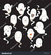 vector ghosts set ghosts different expressions stock vector 326961899 shutterstock