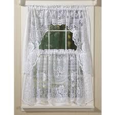Lace Trim Curtains Decoration Cafe Curtain Panels Cotton Tier Curtains Kitchen Tier