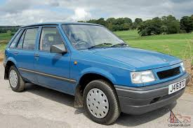vauxhall anglia nova luxe blue 1991 only 13 000 miles amazing condition