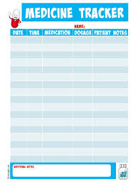Time Management Planner Templates Free Printable Medicine Tracker Planners Binder And Planner Stickers