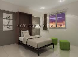 Wall Bed Jakarta Hidden Wall Bed Singapore Murphy U0027s Beds For Small Bedrooms