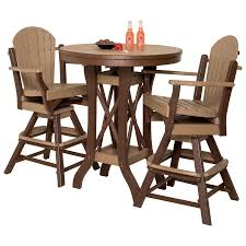 Amish Made Kitchen Tables by Amish Poly Round Patio Pub Table