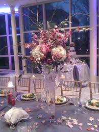 tall purple u0026 pink centerpiece with crystals u0026 lanterns
