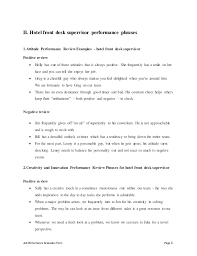 Control Desk Supervisor Hotel Front Desk Supervisor Performance Appraisal