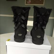 womens ugg boots bow 12 ugg shoes s bailey bow black ugg boots from
