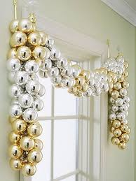sparkling gold and silver decorations