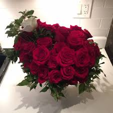 the best floral arrangement for me yet 50 beautiful roses for my