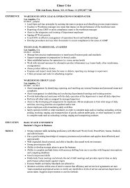 resume templates for administrative officers exams 4am 2 lead warehouse resume sles velvet jobs