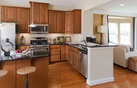 Maple Kitchen Furniture Stunning Shaped With Granite Countertops Kitchen Top Notch Pict Of