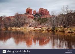 cathedral rock at red rock crossing sedona arizona stock photo