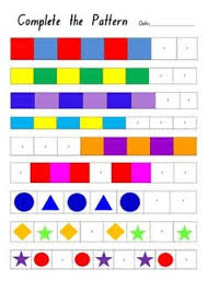 patterns in kindergarten flower pattern worksheets kindergarten and patterns