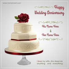 wedding wishes on cake writing name on wedding anniversary wishes greeting card wishes