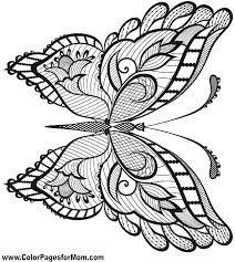 detailed butterfly coloring pages for adults coloring butterfly coloring pages simple butterfly coloring page
