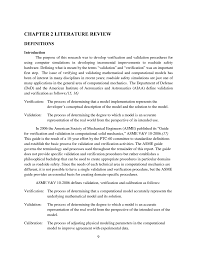 chapter 2 literature review procedures for verification and