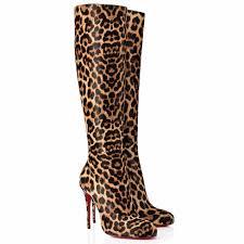 christian louboutin fifi botta 100mm printed pony boots leopard