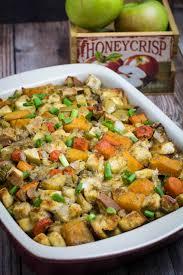 thanksgiving stuffing recipie root vegetable gluten free stuffing dishing delish