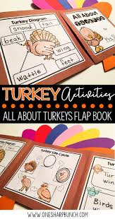 a turkey for thanksgiving book turkey life cycle activities one sharp bunch