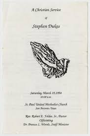 Program For Funeral Service Funeral Program For Stephen Dukes March 19 1994 The Portal To
