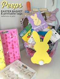 peeps easter basket peeps easter basket and printable tags
