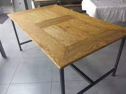 Table A Manger Industrielle Pas Cher by Table Salle A Manger Industriel Pied 2017 Avec Table Salle A