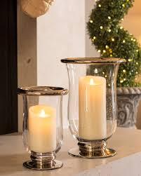 Hurricane Candle Holders Platinum Glass Hurricane Candle Holders Balsam Hill